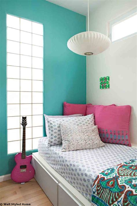 colored wall cool teenager and master bedroom design ideas with