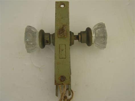 how to refurbish door hardware ebay vintage antique mortise 12 sided crystal knobs brass door
