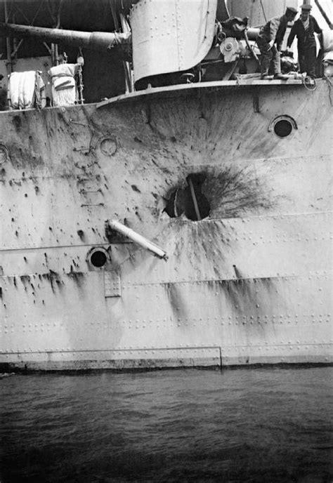 File:HMS Chester Jutland battle damage 1916 IWM SP 1594