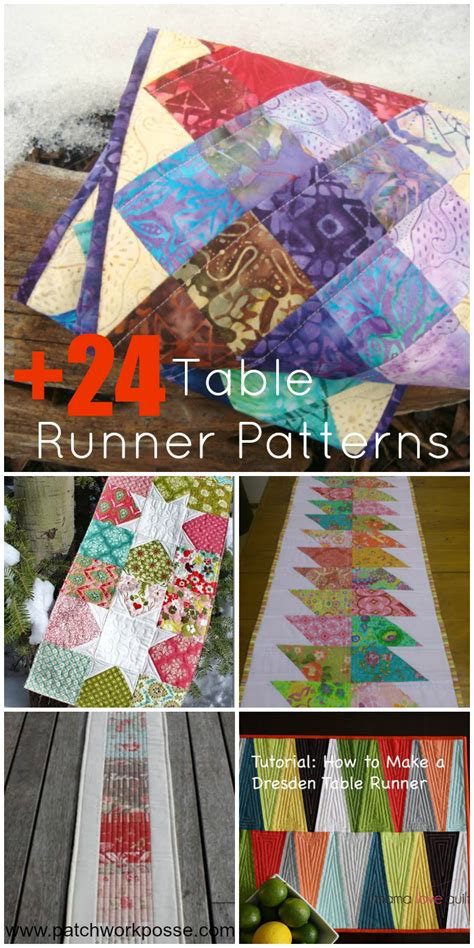 table runner quilt patterns 24 table runner patterns
