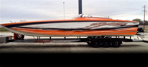 speed boat windshield 36 skater gets boat customs new paint job and windshield kit
