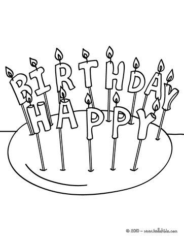 single birthday candle coloring page coloring pages