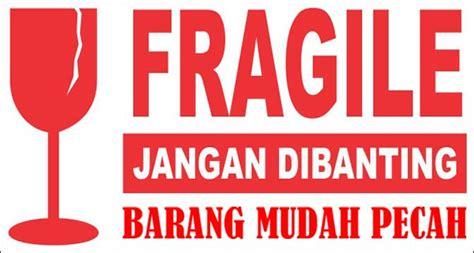 jual sticker fragile jangan di banting uk 5 7cm x 3cm