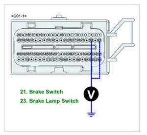 kia sedona i apparently a faulty brake light switch on