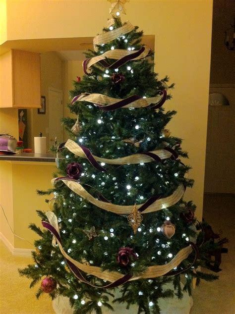 purple and gold christmas decor christmas decorating
