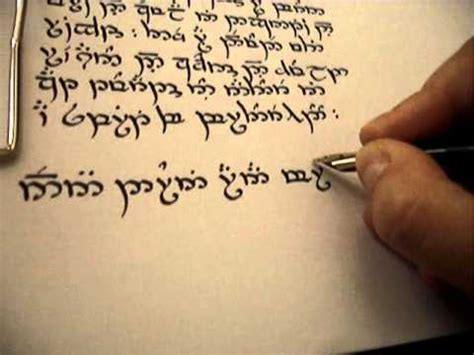 writing with tengwar sindarin mode youtube