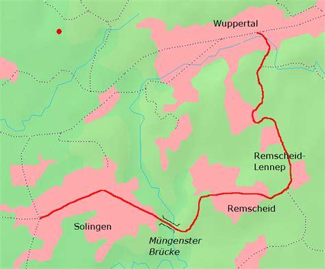 solingen map wuppertal oberbarmen solingen railway