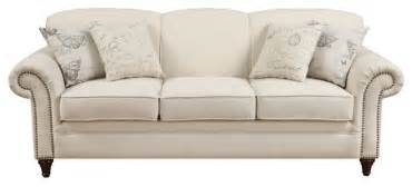 Traditional Pillow Back Sofa traditional sofa with nailhead trim and accent pillows