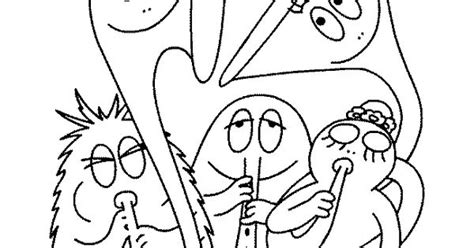 coloriage barbapapa les enfants jouent de la musique musique musique