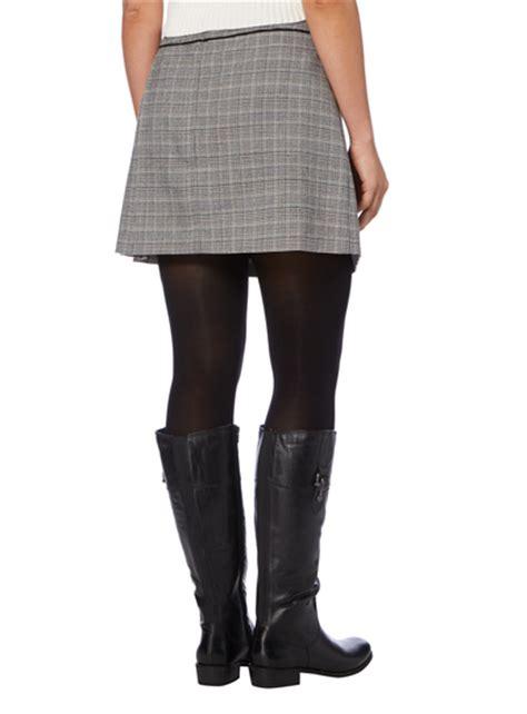 T2b Spotting Kilt Inspired Skirt by Womens Grey Checked Kilt Skirt Tu Clothing