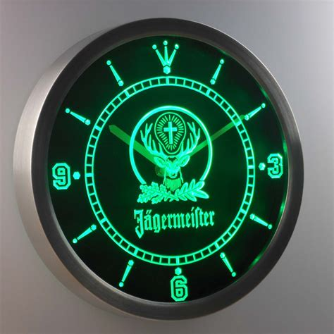nc0572 jagermeister beer neon sign led wall clock in wall