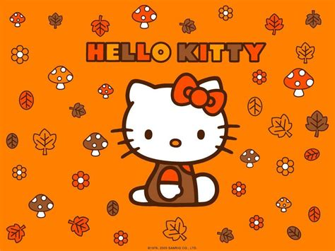 hello kitty autumn wallpaper hello kitty thanksgiving wallpapers wallpaper cave