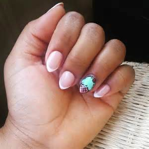 Collection of short stiletto nails