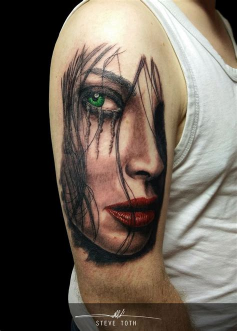 woman s face tattoo 100 best images about steve toth on
