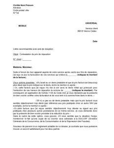 Lettre De Contestation Facture Mobile Exemple Gratuit De Lettre Contestation Prix R 233 Paration Un Appareil Universal Mobile
