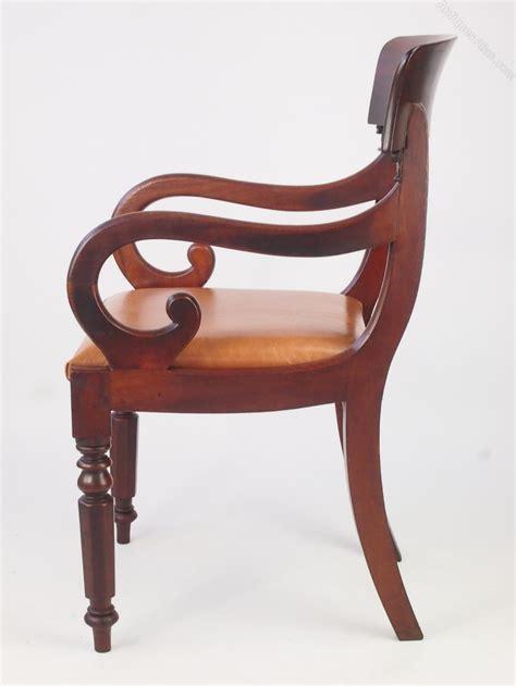 desk armchair antique mahogany open armchair or desk chair antiques atlas
