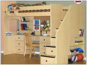 Loft Bed Desk Plans Free Size Loft Bed With Desk Plans