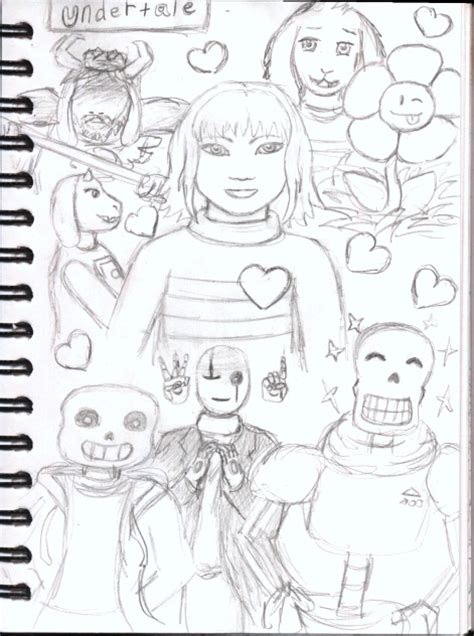 undertale sketchbook undertale collage new sketchbook by dawnstarlightning on