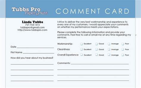 comment cards template templates for comment cards search engine at