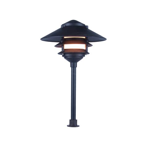 Landscape Lighting Low Voltage Clear Lens Wide Brim Pagoda Low Voltage Outdoor Lighting
