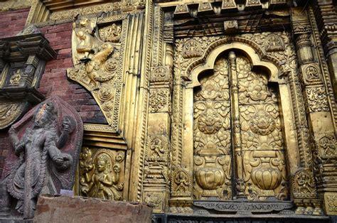Entrance Doors kathmandu changu narayan 19 gilded window and ornate
