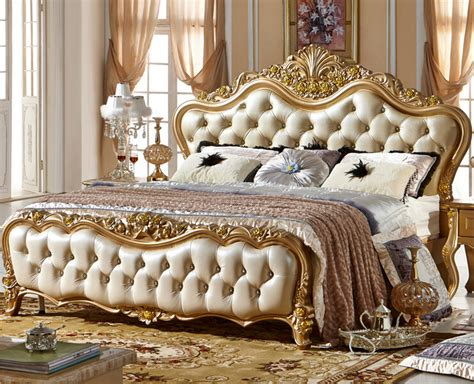 aliexpress buy style golden color wood bed