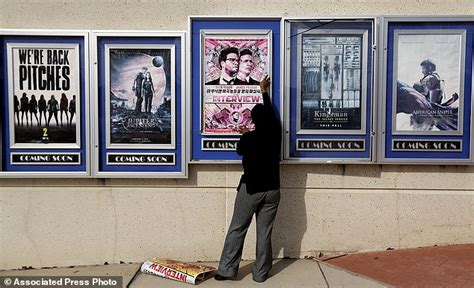 film hacker cinema five cinema chains pull sony s the interview daily mail