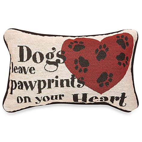 bed bath and beyond decorative throw pillows dogs leave pawprints decorative throw pillow bed bath