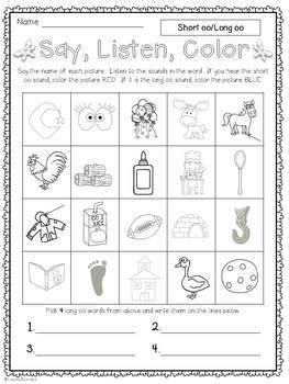 Long oo oo/ou/ew/ue/ui Activity Pack | TpT