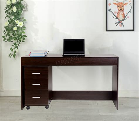 walnut computer desk westwood computer desk table with 3 drawers home office
