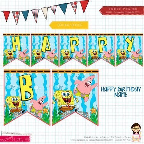 Banner Spongeboob Ii 76 best images about sponge bob on food signs birthdays and favors