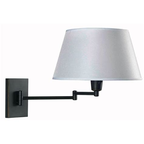 kenroy swing arm wall l kenroy home simplicity 1 light oil rubbed bronze wall