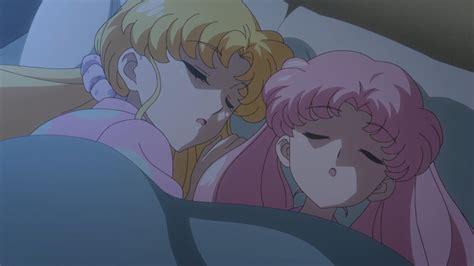 Kaos Bunny Sleep On Moon sailor moon act 28 usagi and chibiusa sleeping
