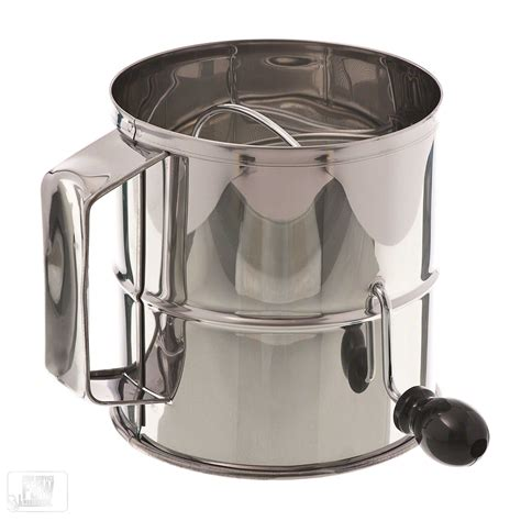 browne foodservice 1260 8 cup stainless steel flour sifter