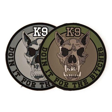 Rubber Patch Detasemen K9 K 9 Emblem Velcro Perekat Karet platatac k9 morale patch