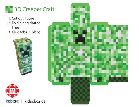 How To Make A Paper Creeper From Minecraft - make your own 3d creeper explore awesome activities