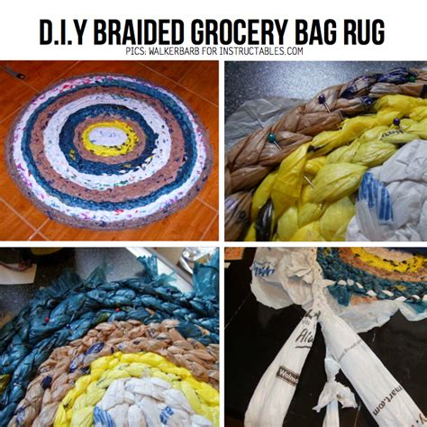 braided plastic bag rug diy plastic bag craft 6 awesome diy ideas