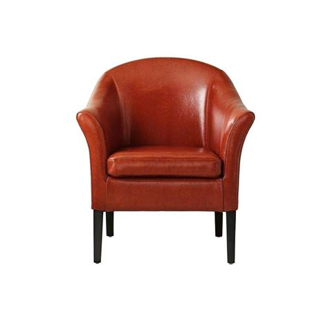 Orange Club Chair by Home Decorators Collection Monte Carlo Burnt Orange