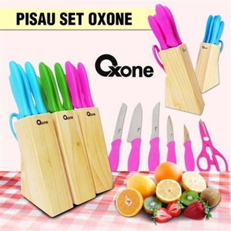 Diskon Stainless Knife Set Color Oxone Ox 961 Pisau Oxone Ox 961 pisau gunting stainless oxone ox961 piso dapur gagang plastik knifeset alat pemotong roti daging