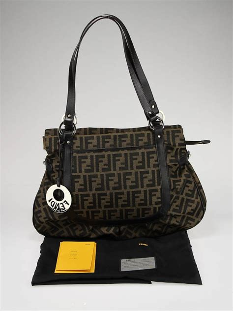Fendi Large Quilted Chef Purse by Fendi Tobacco Zucca Print Canvas Large Chef Shoulder Bag