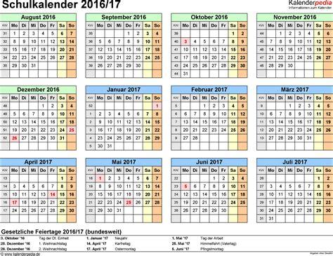 printable calendar 2016 ireland schulkalender 2016 2017 als pdf vorlagen zum ausdrucken