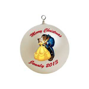 personalized beauty and the beast ornament
