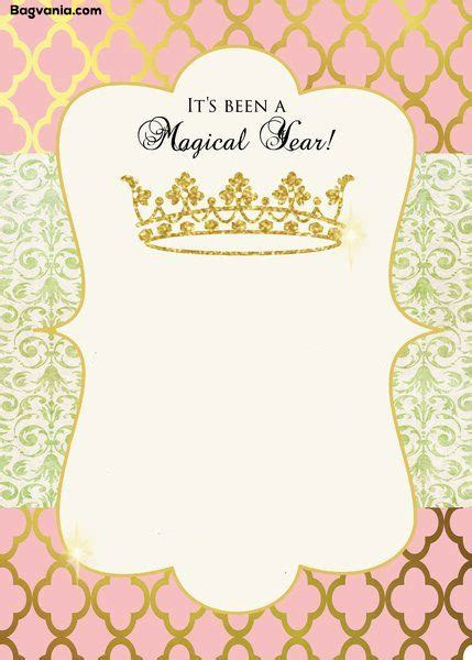 Free Princess Birthday Invitations Bagvania Free Printable Invitation Template Princess Baby Shower Invitation Templates Free