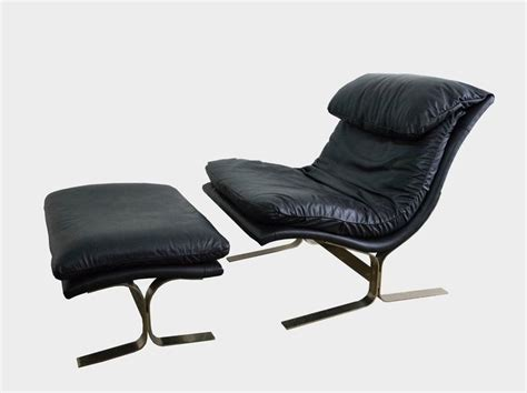lane leather chair and ottoman leather and brass lounge chair and ottoman by lane at 1stdibs