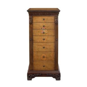avignon antique white jewelry armoire powell masterpiece antique parchment hand painted jewelry