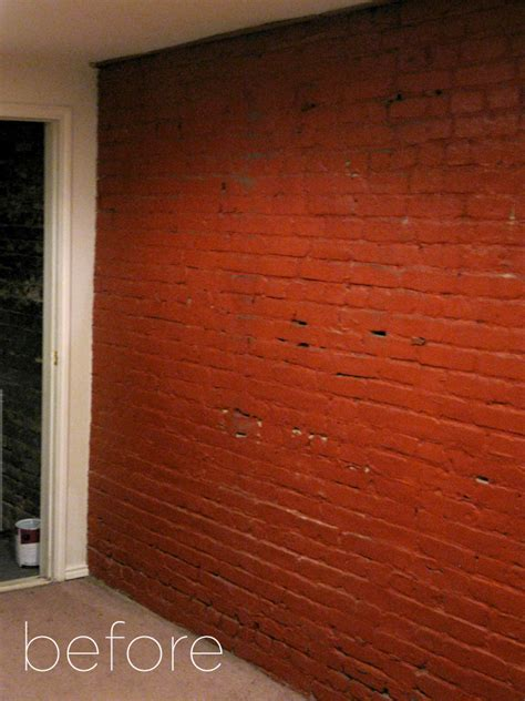 brick basement walls our brick basement apartment a home painting the brick wall