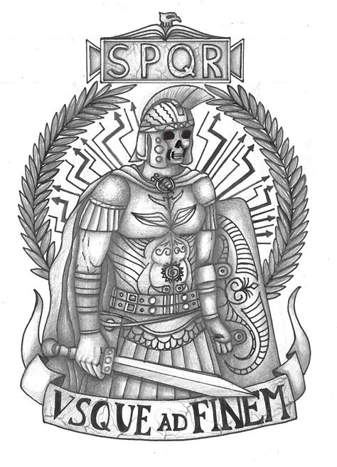 roman legion tattoo designs legionary by thehoundofulster on deviantart