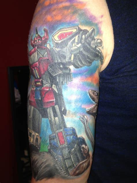 power rangers tattoo power rangers half sleeve megazord by powerranger02