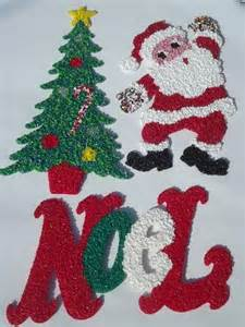 plastic decorations vintage popcorn plastic decorations santa