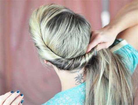 hair twisted around front of head bun elsa hair tutorial twist w bun bangs queen of